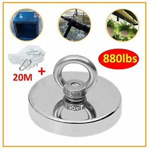 Fishing Magnet Neodymium Very Strong Retrieving Treasure Hunt 880lb Pull Force B