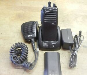 Used Icom Ic f4011 Two Way Uhf Radio With Battery charger antenna