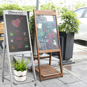 Lightweight Wooden Sandwich Sign Board Menu Write Message Chalkboard Portable