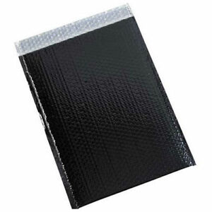 13 X 17 1 2 Black Glamour Bubble Mailer 100 Pack Lot Of 1