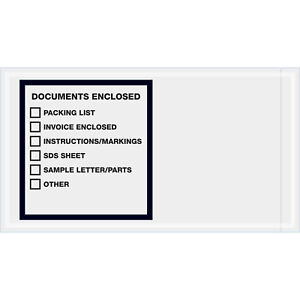 5 1 2 X 10 Documents Enclosed Printer Clear Full Face 1000 Pack Lot Of 1