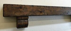 Rustic Fireplace Mantle Wood Beam Mantle With Corbels Rustic Mantle 48 Inches