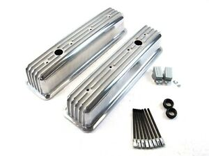 1986 Up Chevy 350 Tall Aluminum Finned Vortec Valve Cover Polished E41021p