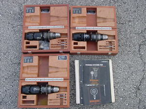 Three Renishaw Probes With Boxes Manuals Tips And Spare Parts Mp9 Mp8 Mp7