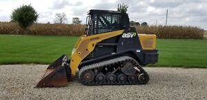 2008 Asv Pt60 Track Skid Steer Loader Cat Diesel Low Hours 2 Speed Heat