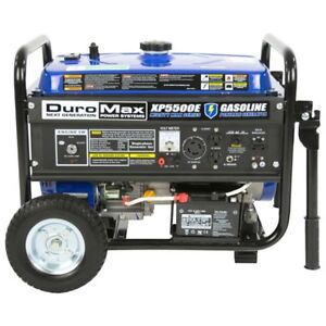 Duromax 5500 watt 7 5 hp 36 6 amp Portable Electric Start Kick ass Generator