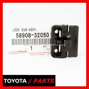 Factory Toyota 4runner Camry Prius Rav4 Tacoma Console Lid Lock Oem 58908 32050