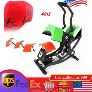 4in1 Heat Press Machine For Hat Cap Printer multifunctional Transfer Sublimation