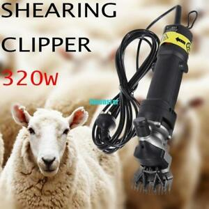 320w Electric Sheep Goats Shearing Clipper Shears Cutter Wool With Carry Case Bt