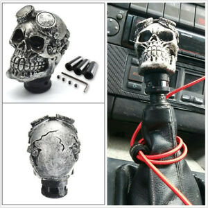 Car Skull Head Manual Transmission Gear Shift Knob With Hoses Mount Accessories
