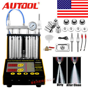 Autool Ct150 Car Ultrasonic Fuel System Injector Injection Cleaner Tester Us