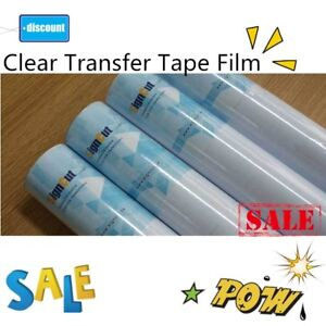 9 Rolls 24 X 11 Yards Clear Transfer Tape Film For Vinyl Graphics Application