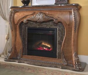 Huge Marble Carved Wood Aico Eden Lion Paws Electric Fireplace You Pick Up