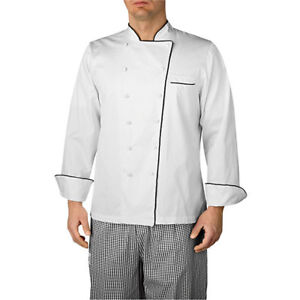 Wholesale Chefwear Long Sleeve Piped Executive Royal Cotton Chef Jacket