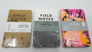 Field Notes Set Love Hugs Kisses Xoxo 2014 2015 And 2016 All New And Sealed