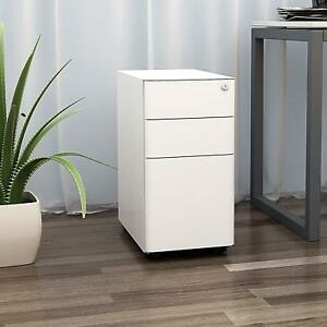 Devaise 3 drawer Slim Mobile File Cabinet With Lock legal letter Size office