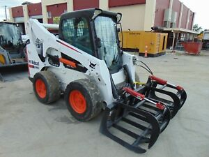 2012 Bobcat S 770 Turbo 92 Hp Air Conditioned Cab Hyd Coupler Root Grapple