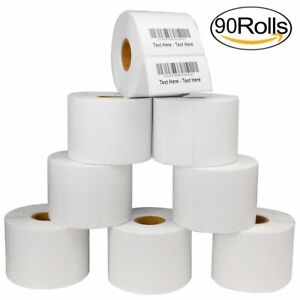 90 Roll 2 25x1 25 Direct Thermal Barcode Shipping Labels Zebra Lp2824 1000 roll