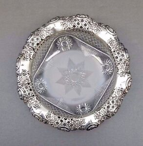 Brilliant Cut Sterling Bowl Thomas Latham Ernest Morton Silver Antique English