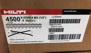 Case 4500 New Hilti X egn14 Mx 1 2 Collated Nail For Gx 120 Part 340231