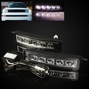 For 2004 2006 Scion Xb bb Chrome Clear Led Drl Fog Lights Driving Lamps Assembly
