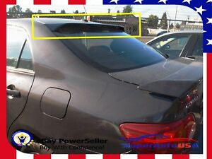 For 2009 2013 Toyota Corolla Abs Black Rear Roof Window Visor Spoiler 3d Jdm Usa