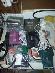 Lot Bp Blood Pressure Hoses Cuffs Ends Ge Colin Johnson And Johnson Welch Allyn