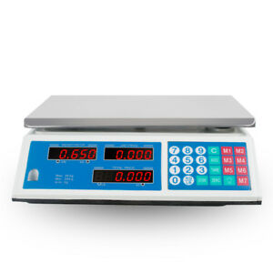Us New Digital Weight Scale Price Computing Retail Food Meat Scales Count Scale