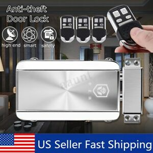 Home Remote Control Door Lock Wireless Anti theft Security Access Control System