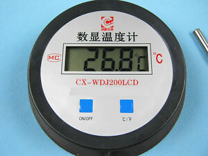 Led Digital Thermometer range From 50 200 With 20 Meters Length Ntc Wire