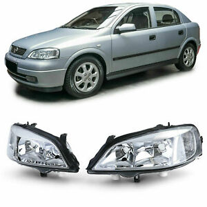Clear Finish Headlight Set Front H7 Lights For Opel Astra G 98 04