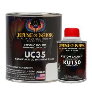 House Of Kolor Uc35 Q01 Kosmic Acrylic Klear Clearcoat Quart Kit W Catalyst