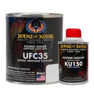 House Of Kolor Ufc35 Q01 Urethane Flo Klear Clearcoat Quart Kit W Catalyst