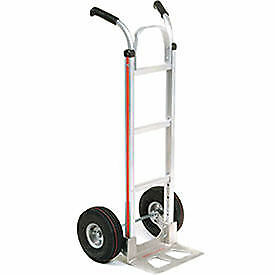 Magliner Aluminum Hand Truck With Double Handle Pneumatic Wheels Lot Of 1