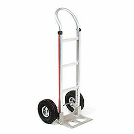 Magliner Aluminum Hand Truck With Curved Handle Pneumatic Wheels Lot Of 1