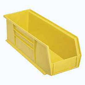 Plastic Stacking Bin 5 1 2 w X 14 3 4 d X 5 h Yellow Lot Of 12