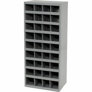 Durham Steel Storage Parts Bin Cabinet Open Front 36 Compartments Lot Of 1