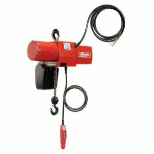 Milwaukee 1 Ton Electric Chain Hoist 10 Lift 115 230v 1 phase Lot Of 1