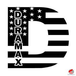 Duramax Decal Flag Window Sticker Diesel Truck Made In Usa Free Shipping
