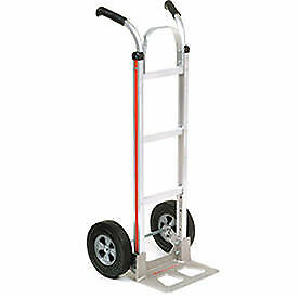 Magliner Aluminum Hand Truck With Double Handle Semi pneumatic Wheels Lot Of 1