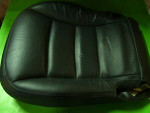 08 C6 Corvette Seat Bottom Leather Pad Cushions Rh Right Black Cover Upholstery
