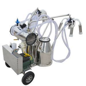us electric Vacuum Pump Milking Machine For Farm Cows Double Tank Cattle