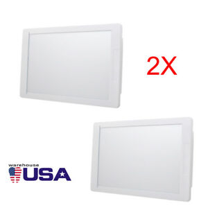 2pcs Dental X ray Film Illuminator Light Box X ray Viewer 11 8 5 View Area Usa