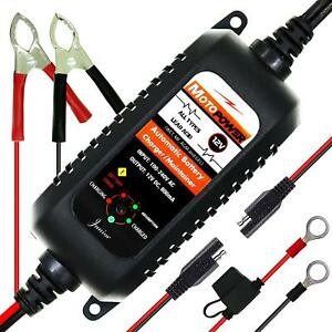 Automatic Motorcycle Battery Charger Float Trickle Maintainer Tender 800ma 12v
