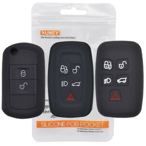 Xukey Silicone Remote Key Case Fob Cover Fit For Range Rover Sport Vouge Evoque