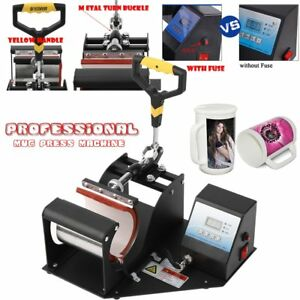 Heat Press Transfer Sublimation Machine Dual Digital For Cup Coffee Mug 11oz Sw