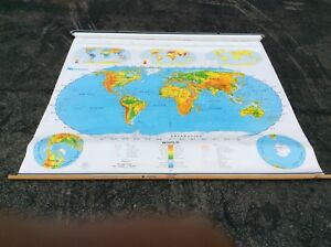 3 Nystrom 1sr991 Same Pull Down World Usa School Duel Maps Markable Very Good
