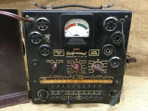 Vintage Nri Professional Tube Tester Model 69 In Working Condition