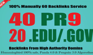Site Ranking With 40 Pr9 20 edu gov Backlinks From Authority Domains