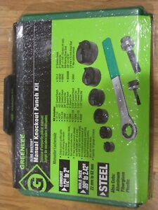 Greenlee 7238sb Slug buster Manual Knockout Punch Kit 1 2 2 New New New